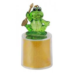 """Новогодний сувенир """"Царевна-лягушка"""" ORIENT CT002 7.5см многоцветная подсветка, встроенные батарейки"""