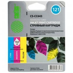 Картридж струйный CACTUS CS-CC643 №121 для HP DeskJet D1663/D2563/F2423F4275/F4283 color
