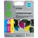 Картридж струйный CACTUS CS-CC643 №121 для HP DeskJet D1663/D2563/F2423F4275/F4283 color