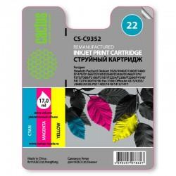 Картридж струйный CACTUS CS-C9352 №22 для HP DeskJet 3920/3940/D1360/D1460/D1470 color (11ml)