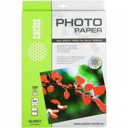 Бумага Cactus 230 г/м2, А4, глянцевая, 100л. CS-GA4230100