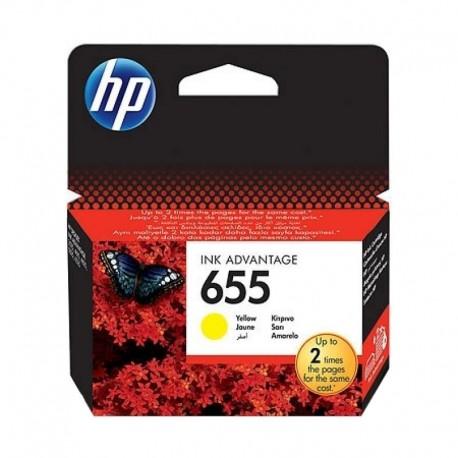 Картридж струйный HP CZ112AE (655) для DJ 3525, 4615, 4625, 5525, Yellow