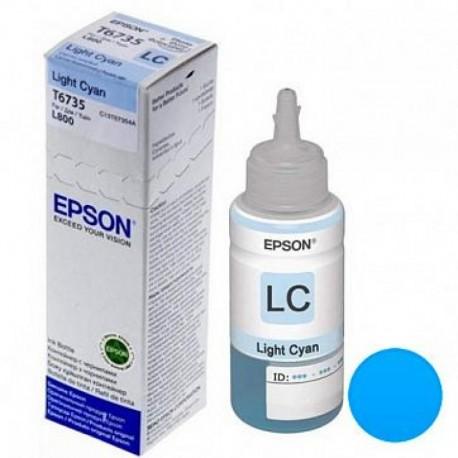 Контейнер с чернилами Epson T6735 (C13T67354A) для L800/L1800/L805/L810/L850 Light Cyan