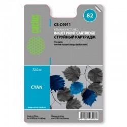 Картридж струйный CACTUS CS-C4911 №82 для HP Design Jet 500/800C cyan