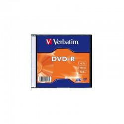 Диск DVD-R 1шт Verbatim 4.7 16 Slim Case (43547)