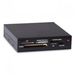 Картридер внутренний Ginzzu GR-116B черный USB2.0 CF/SD/microSD/MS/MMC