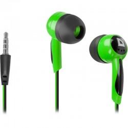 Наушники Defender Basic 604 вставные, 32Ом, 85дБ, кабель 1.2м, Black/Green