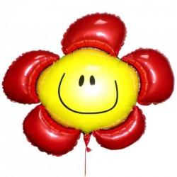 Шар воздушный фольга Цветочек красный 88см X 104см 109509