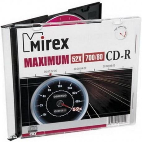 Диск CD-R 1шт Mirex 700Mb 52x Slim (UL120052A8S)