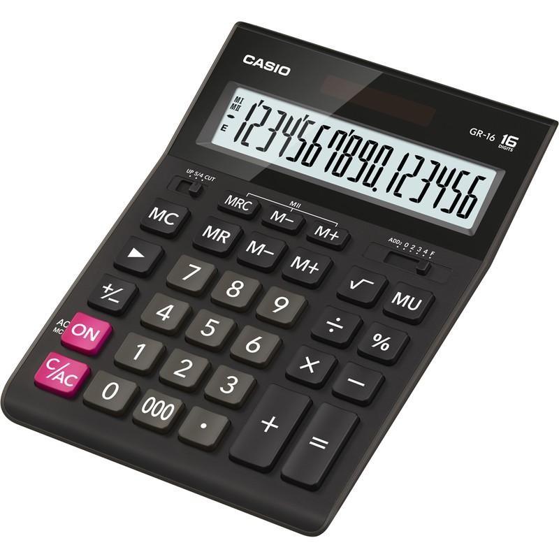 Калькулятор CASIO GR-16 16 разряд. DP черный (394706)