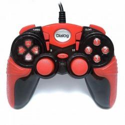 Геймпад Dialog GP-A15 проводной, для РС, виброотдача, 12 кнопок, 2 стика, кабель 1.8м, Black/Red