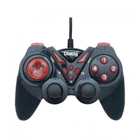 Геймпад Dialog GP-A13 проводной, для РС, виброотдача, 12 кнопок, 2 стика, кабель 1.8м, Black/Red