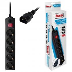 Сетевой фильтр 1.8м Buro 500SH-1.8-UPS-B 5 розеток черный вилка для подключения к ИБП