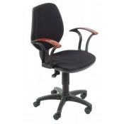 Кресло офисное (CH-725AXSN/B черный JP-15-2 подлокотники п/дерево)  664017