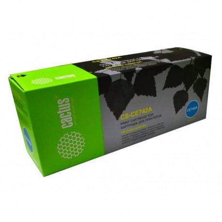Картридж лазерный CACTUS CS-CE742AR для HP CLJ CP5220/CP5221 желтый (7300стр.)