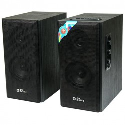 Актив.колонки 2.0 Dialog Blues AB-41B 10Вт, Bluetooth, SD/USB, питание от сети, MDF, Black