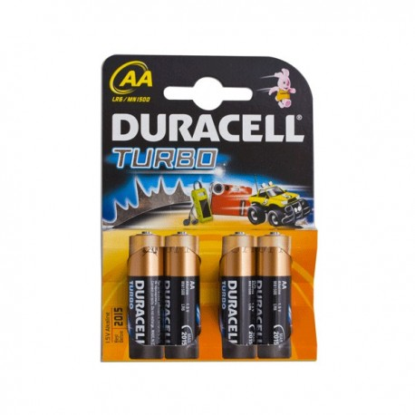 Батарейки AA DURACELL TURBO 4шт уп LR6-4BL