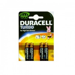 Батарейки AAA DURACELL TURBO 4шт уп LR03-4BL