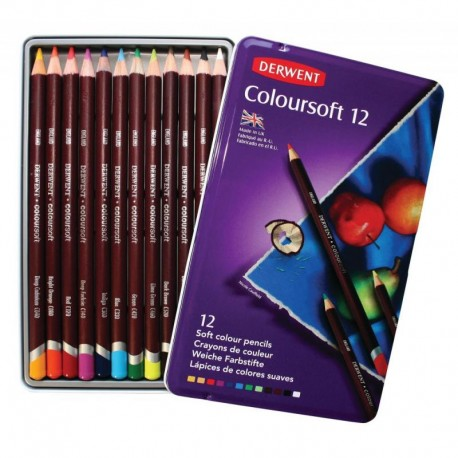 Карандаши 12цв. Derwent Coloursoft D-0701026