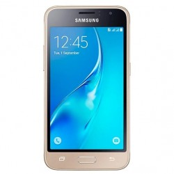 "Смартфон Samsung Galaxy J1 (2016) SM-J120F/DS Gold 2sim/4.5""/480*800/4х1.3ГГц/1Gb/8Gb/microSD/5Мп/Bt/WiFi/GPS/And5.1"