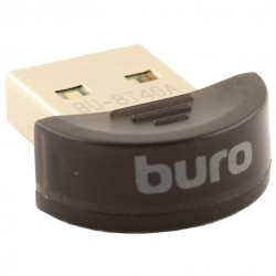 Адаптер Bluetooth USB Buro BU-BT40A(B) Bluetooth 4.0+EDR class 1.5 20м черный
