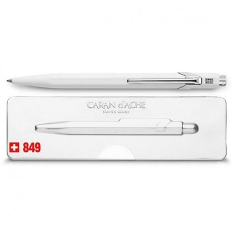 CARANDACHE ручка шариковая Office Popline (849.502) Laquer White M