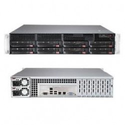 Supermicro SuperServer 2U 6028R-TR no CPU(2) E5-2600v3/v4 no memory(16)/ on board C612 RAID 0/1/5/10/ no HDD(8)LFF/ 2xGE/ 6xLP/ 2x740W Platinum/ Backplane 8xSATA/SAS