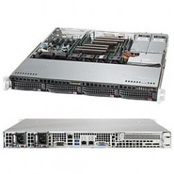 Supermicro SuperServer 1U 6018R-MTR no CPU(2) E5-2600v3/v4 no memory(8)/ on board C612 RAID 0/1/5/10/ no HDD(4)LFF/ 2xGE/ 1xFH/ 2x400 Platinum/ Backplane 4xSATA/SAS