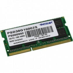 Модуль памяти SO-DDR3 8192Mb PC12800/1600MHz Patriot PSD38G16002S