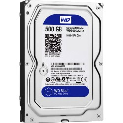 Жесткий диск HDD SATA-III  500Gb WD WD5000AZRZ Blue,5400,64Mb