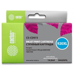 Картридж струйный CACTUS CS-CD973 №920XL для HP Officejet 6000/6500/7000/7500 magenta