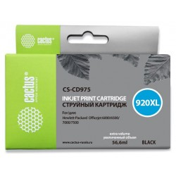 Картридж струйный CACTUS CS-CD975 (№920XL) для HP Officejet 6000/6500/7000/7500 Black