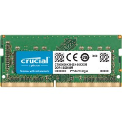 Модуль памяти Crucial by Micron  DDR4   8GB 2400MHz SODIMM  (PC4-19200) CL15 SRx8 1.2V (Retail)