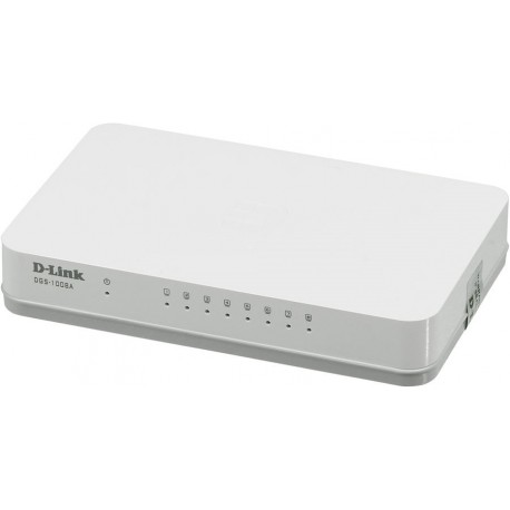 Коммутатор D-Link DGS-1008A (8-ports 10/100/1000 Mbps UTP Stand-alone)