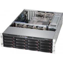 Supermicro SuperStorage 3U Server 6038R-E1CR16H no CPU(2)E5-2600v3/v4 no memory(16)/on boardRAID 0/1/5/10/ LSI3108/noHDD(16)LFF/opt.2x2.5(rear)/2x10Gb/7xLP/JBODExpSlot/2x920W/Single Expander backplane