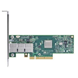 Mellanox ConnectX®-3 VPI adapter card, single-port QSFP, FDR IB (56Gb/s) and 40/56GbE, PCIe3.0 x8 8GT/s, tall bracket, RoHS R6