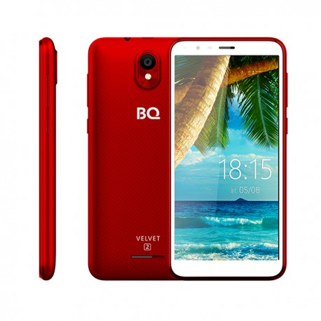 "Смартфон BQ BQ-5302G Velvet 2 Wine Red 2sim/5.34""/960*480/4*1.3ГГц/1Gb/8Gb/mSD/5Мп/Bt/WiFi/GPS/And8.1/2150mAh"