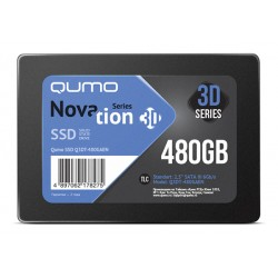 Жесткий диск SSD SATA-III 480GB QUMO Novation Q3DT-480GAEN (TLC 3D NAND, 540/560 Мб/с)