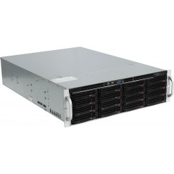 Supermicro SuperServer 3U 6038R-E1CR16N no CPU(2) E5-2600v3/v4 no memory(24)/ on board C612 RAID 0/1/5/10/ LSI3108SAS3/ no HDD(16)LFF/ 4x10Gb/ 2x920W/ Single Expander backplane