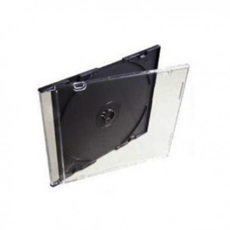 Коробка на 1CD/DVD Slim чёрная вставка