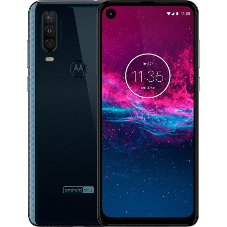"Смартфон Motorola One Action Blue 2sim/6.3""/2520*1080/8*2.2ГГц/4Gb/128Gb/mSD/12+6+5Мп/Bt/WiFi/GPS/NFC/And9/3500mAh"